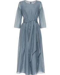 Max Mara - Desio Cotton And Silk Midi Dress - Lyst
