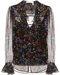 See By Chloé - Printed Silk Blouse - Lyst