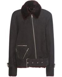 Public School - Exclusive To Mytheresa. Com – Cavallo Shearling-lined Suede Jacket - Lyst