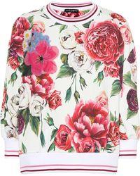 Dolce & Gabbana - Pull en coton imprimé - Lyst