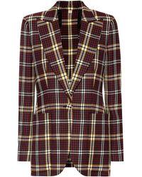 Burberry - Checked Wool Blazer - Lyst