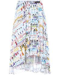 b6f946ec9f Balenciaga - Printed Jersey Midi Skirt - Lyst