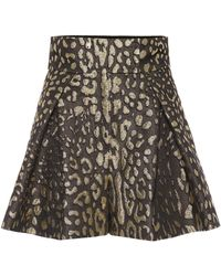 Dolce & Gabbana - High-rise Brocade Shorts - Lyst