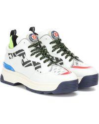 Fendi - Sneakers T-Rex aus Leder und Mesh - Lyst