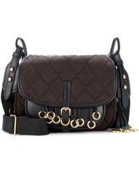 Prada - Leather-trimmed Quilted Shoulder Bag - Lyst