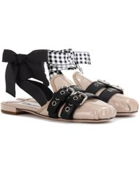 outlet where can you find Miu Miu Leather Embroidered Mules cheap tumblr buy cheap cheapest price TlGZl