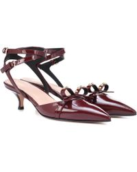 RED Valentino - Patent Leather Slingback Pumps - Lyst