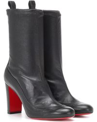 Christian Louboutin - Gena Bootie 85 Leather Ankle Boots - Lyst