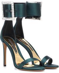 Alexandre Vauthier - Yasmin Embellished Satin Sandals - Lyst
