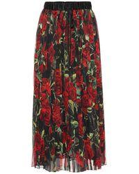 Dolce & Gabbana - Gonna plissé a stampa floreale - Lyst
