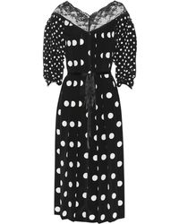 Marc Jacobs Polka-dot Silk Dress