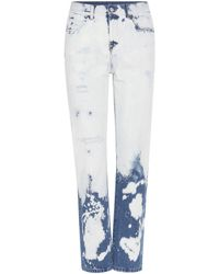 Gucci   Bleached High-rise Jeans   Lyst