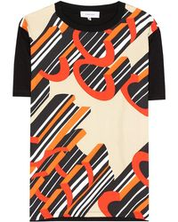 Carven - T-shirt a stampa in cotone e seta - Lyst