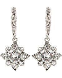Oscar de la Renta - Crystal-embellished Earrings - Lyst