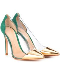 22cfe809545c Gianvito Rossi - Plexi 105 Leather And Suede Pumps - Lyst