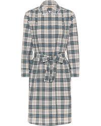 Burberry - Check Cotton Shirt Dress - Lyst