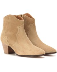 216ba593912 Isabel Marant - Dicker Suede Ankle Boots - Lyst