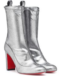 Christian Louboutin - Gena 85 Metallic Leather Boots - Lyst