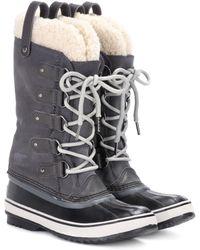 Sorel - Boots Joan of Artic aus Veloursleder und Shearling - Lyst