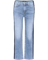 7 For All Mankind - Cropped Jeans Kiki - Lyst