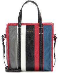 Balenciaga - Bazar Small Striped Leather Shopper Tote Bag - Lyst