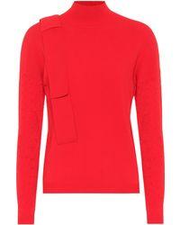 Delpozo - Perforated Turtleneck Sweater - Lyst