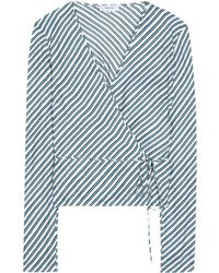 Carven - Striped Silk Blouse - Lyst