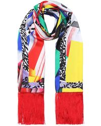 Versace - Exclusive To Mytheresa.com – Fringed Silk Twill Scarf - Lyst