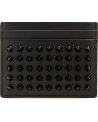 Christian Louboutin - Kios Spikes Leather Card Holder - Lyst