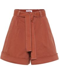 See By Chloé - High-rise Cotton Twill Shorts - Lyst