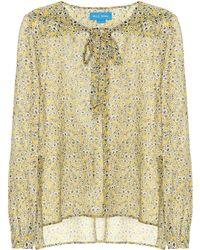 M.i.h Jeans - Alma Floral-printed Silk Shirt - Lyst