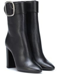 Saint Laurent - Joplin 105 Leather Ankle Boots - Lyst