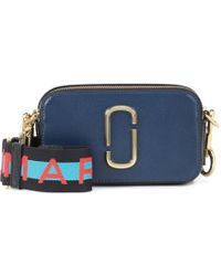 d9945c7cd8ae Marc Jacobs Logo Strap Snapshot Small Camera Bag in Blue - Lyst
