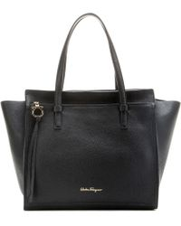 Ferragamo - Large Amy Leather Tote - Lyst
