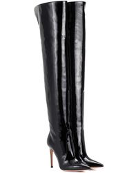 Gianvito Rossi - Overknee-Stiefel Rennes aus Lackleder - Lyst