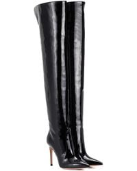 Gianvito Rossi - Rennes Leather Over-the-knee Boots - Lyst