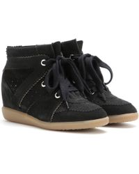 Isabel Marant | Toile Bobby Suede Wedge Sneakers | Lyst