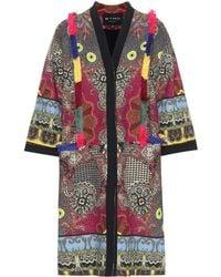 Etro - Fringed Tweed Coat - Lyst