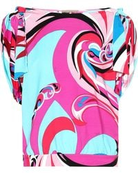 Emilio Pucci - Printed Jersey Top - Lyst