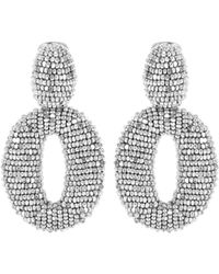 Oscar de la Renta | Beaded Clip-on Earrings | Lyst
