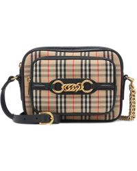 Burberry - The Link Checked Crossbody Bag - Lyst