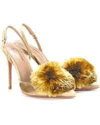 Aquazzura - Exclusive To Mytheresa.com – Powder Puff 105 Velvet Court Shoes - Lyst