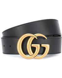Gucci - Cintura in pelle con logo - Lyst