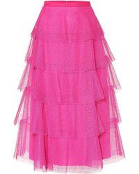 RED Valentino - Tulle Midi Skirt - Lyst