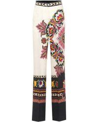 Etro - Jacquard Silk-blend Trousers - Lyst