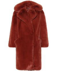 Givenchy - Oversized Faux Fur Coat - Lyst
