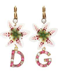 a9b810d17 Dolce & Gabbana Hoop Earrings In Gold in Metallic - Lyst