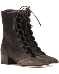 Gianvito Rossi - Exclusive To Mytheresa. Com – Delia Suede Ankle Boots - Lyst