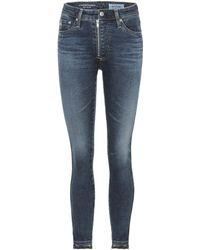 AG Jeans - The Farrah High-waisted Skinny Jeans - Lyst