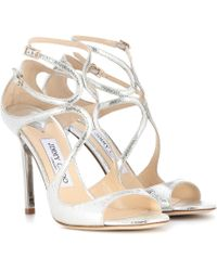 Jimmy Choo - Lang Leather Sandals - Lyst